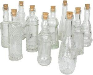 بورس فروش بطری شیشه ای با درب چوب پنبه