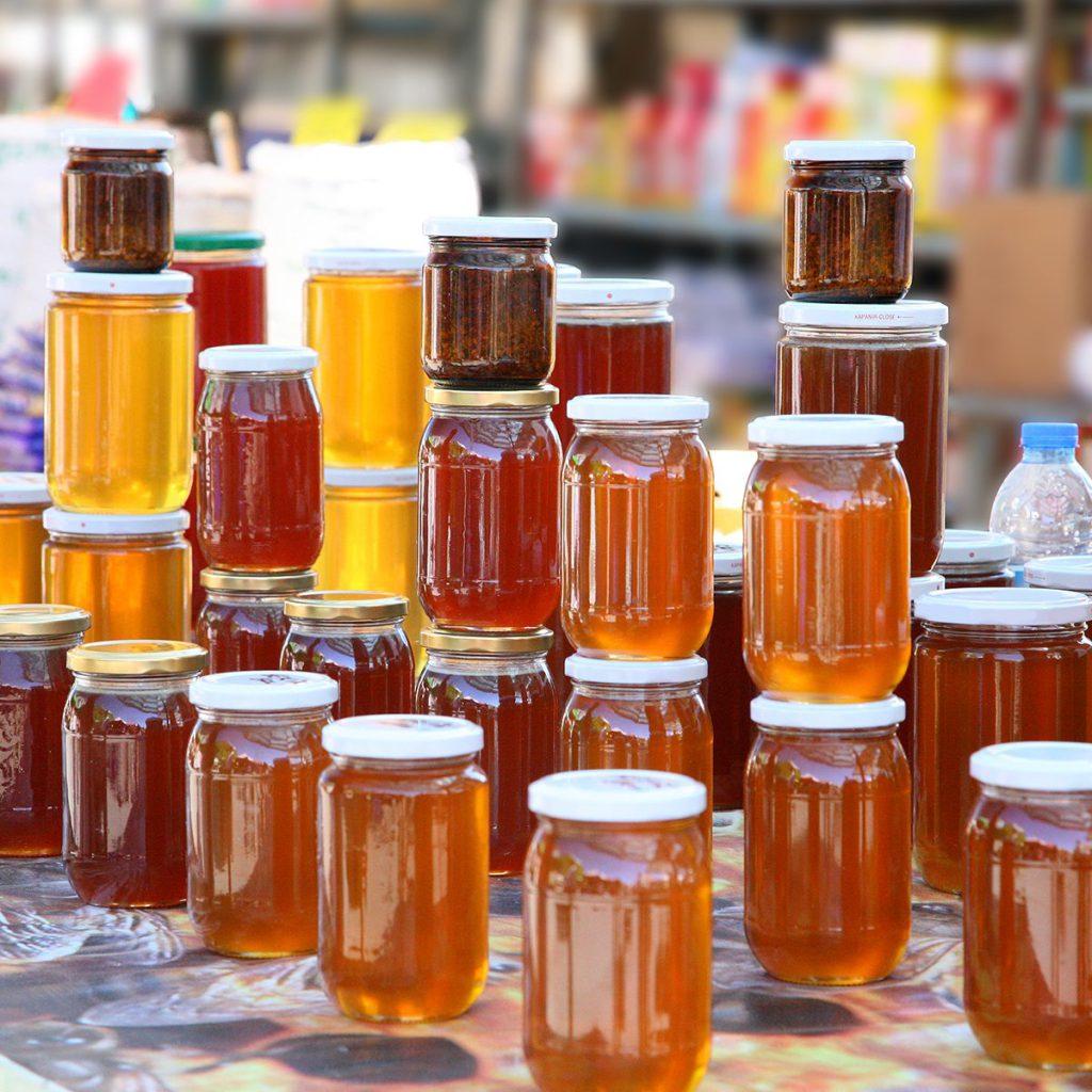 خرید عمده جار شیشه ای عسل به قیمت کارخانه